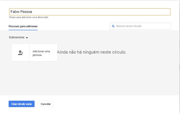 circulo do google plus